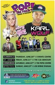 Popdarock tour with Karl Wolf, My Name is Kay, Tyler Shaw, RRS & DJJO